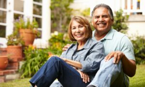 The Gardens of Castle Hills   Senior couple outdoors